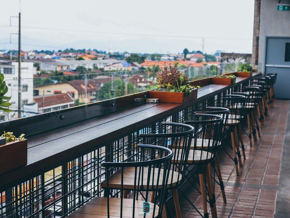 วิวสวยๆ-จากร้านอาหาร-Rooftop-ชั้นบนสุดของโรงแรม-วิวดีย์จริงครับ  สถาปัตยกรรมร่วมสมัย,อำเภอเมือง,นครศรีธรรมราช,rooftop,การออกแบบ,ที่พัก,โรงแรม