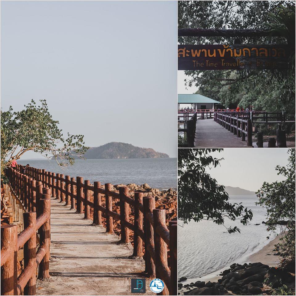 และนี่คือสะพานข้ามกาลเวลา-เมื่อเดินไปจนสุดสะพานจะเป็นวิวทะเลชายหาดสวยๆ-อยู่ติดกับสวนสาธารณะมีผู้คนมาวิ่งออกกำลังกายครับ สตูล,แหล่งท่องเที่ยว,จุดเช็คอิน,ของกิน,คาเฟ่,ทะเล,ภูเขา