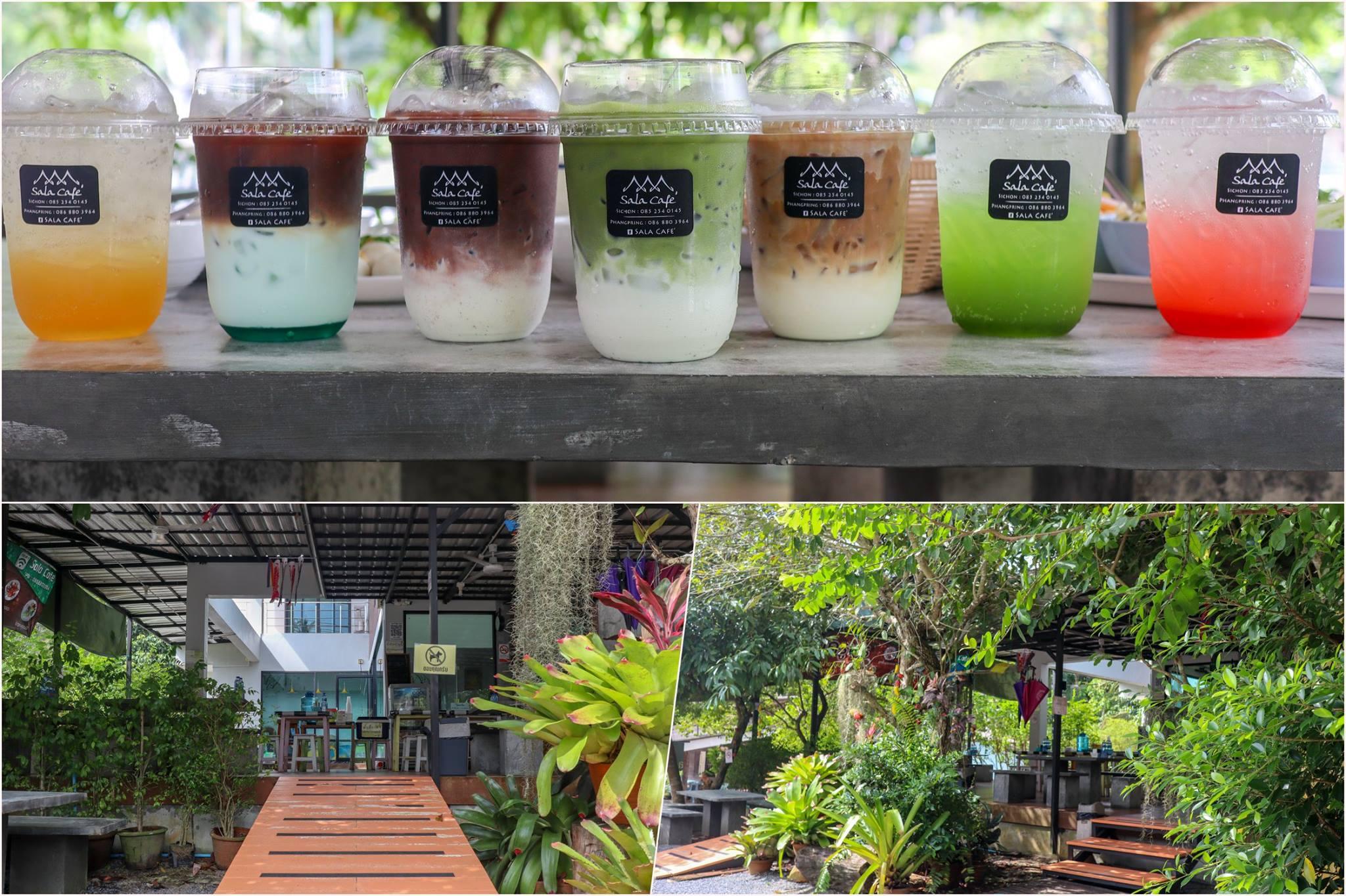 19.-Sala-Cafe ร้านนี้จะออกแนวแตกต่างนิดนึงคือมีการผสมผสานกันระหว่างร้านขนมจีนและคาเฟ่-ที่ขอบอกว่าเข้ากันได้อย่างลงตัวครับ-เมนูชาเขียว-กับโกโก้-แอดมินให้-10/10-เลยอร่อยมวากกกก พิกัด-:-ท่าศาลา-นครศรี หนมจีนครูพร-ขนมจีนน้ำยาปูนิ่ม-By-Sala-Cafe- คาเฟ่,นครศรีธรรมราช,2021,จุดกิน,ของกิน,วิวหลักล้าน,ร้านกาแฟ