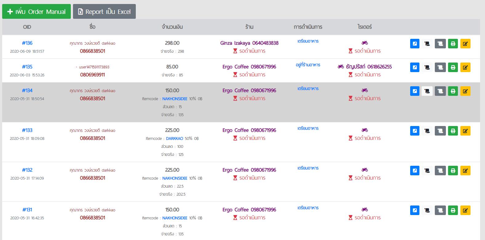 ระบบจัดการออเดอร์อย่างละเอียด  รับทำเว็บไซต์,ภาคใต้,application,ios,android