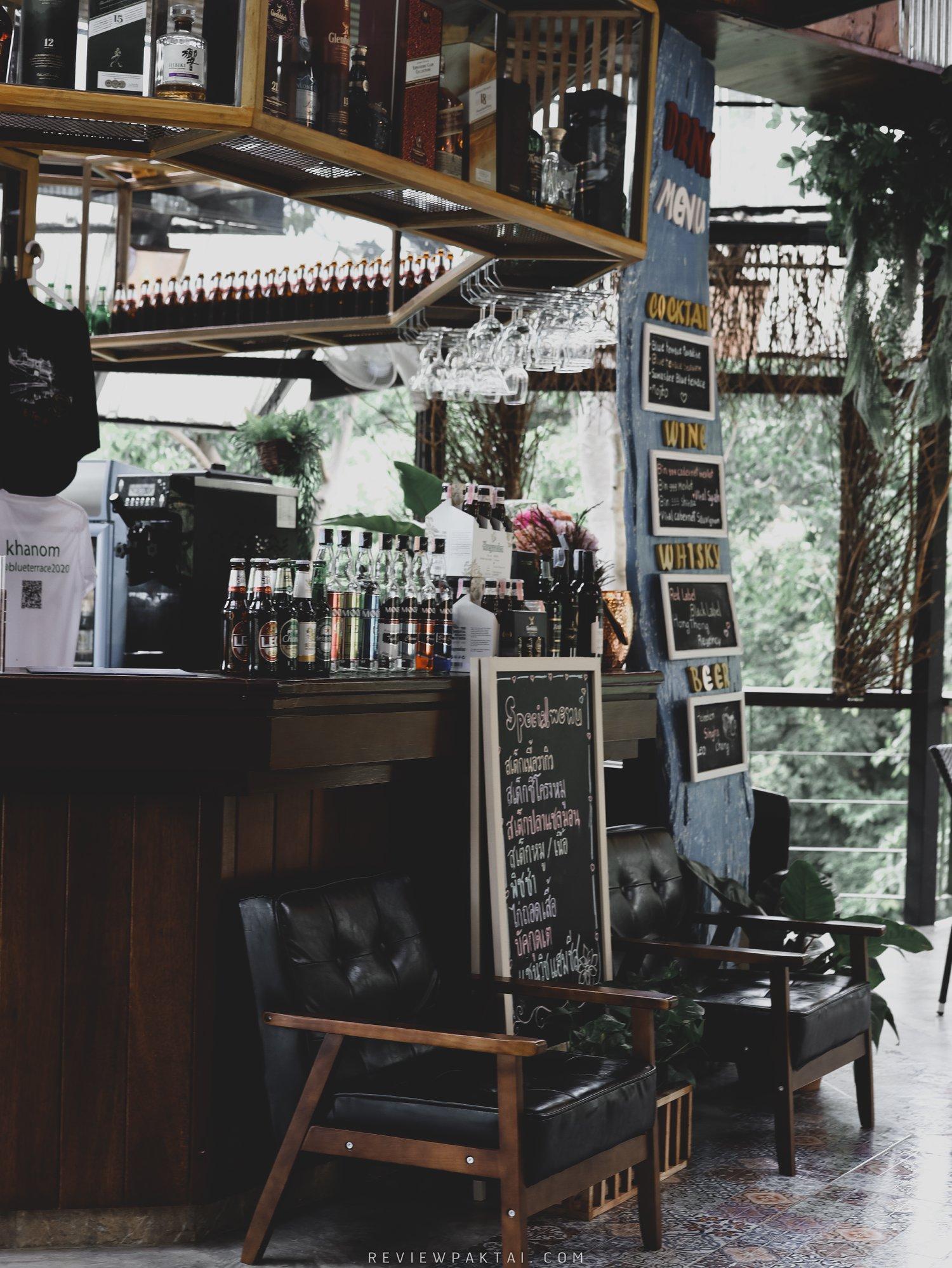 โซนบาร์นั่งชิว-ต้นไม้ล้อมรอบวิวสีเขียว ขนอม,คาเฟ่,Blueterrace,อร่อย,วิวหลักล้าน,กลางป่า,นครศรีธรรมราช